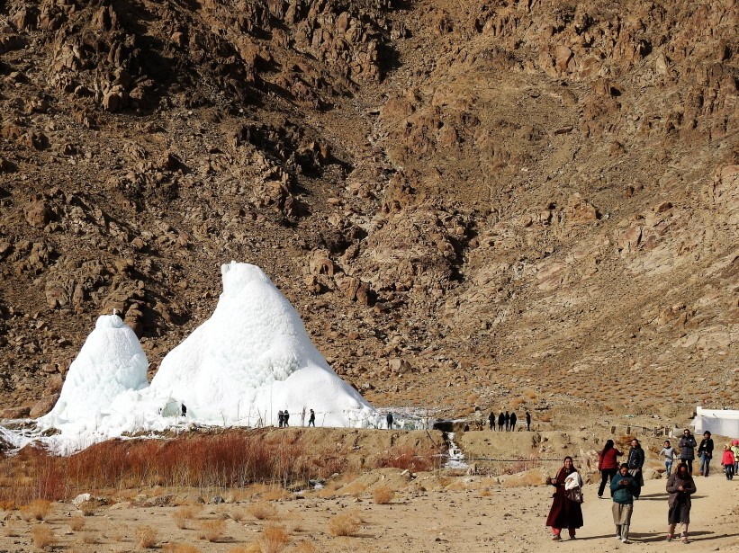 Ice Stupa is a big draw for locals too
