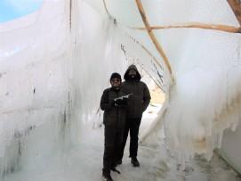 Inside Ice Stupa temp -15