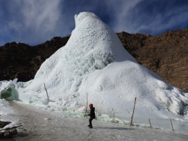 Kids too love Ice Stupa