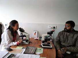 Dr. Tsetan Dolkar at work