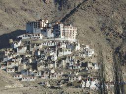 Chamdey Monastery atop a hillock