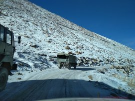 Majestic Army vehicle are a common site in Ladakh