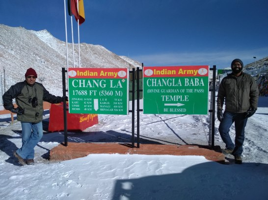 Indian Army's signage at Changla Pass