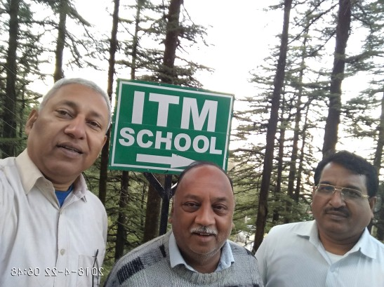 Outside ITM School, with Mr. Sudhakar and Mr. Ashok