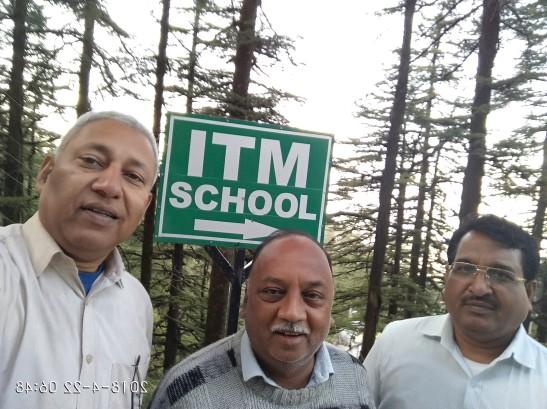 Outside ITM School, with Mr. Sudhakar and Mr. Ashok
