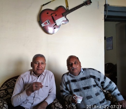 With Sudhakar ji, my host in Mussourie