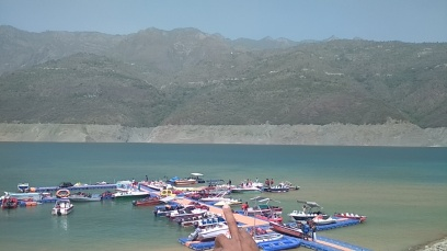 Tehri Dam Lake has excellent water sports activities